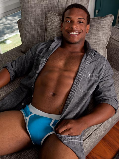 Randy Blue: Adrian Nuts a Hot Load on his Beautiful Chest