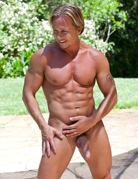 Colt Studio: Hunk Alex's Glistening Outdoor Nut Work