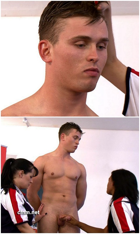 CFNM: Jock Brad Gets Women's Arousing Touch