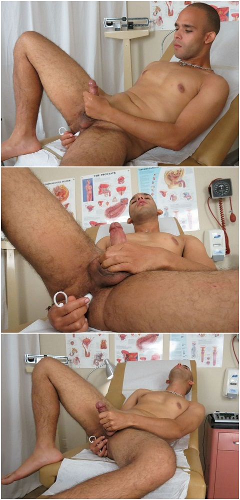 College Boy Physicals: Impatient Jayce Enjoys Playing with an Anal Toy