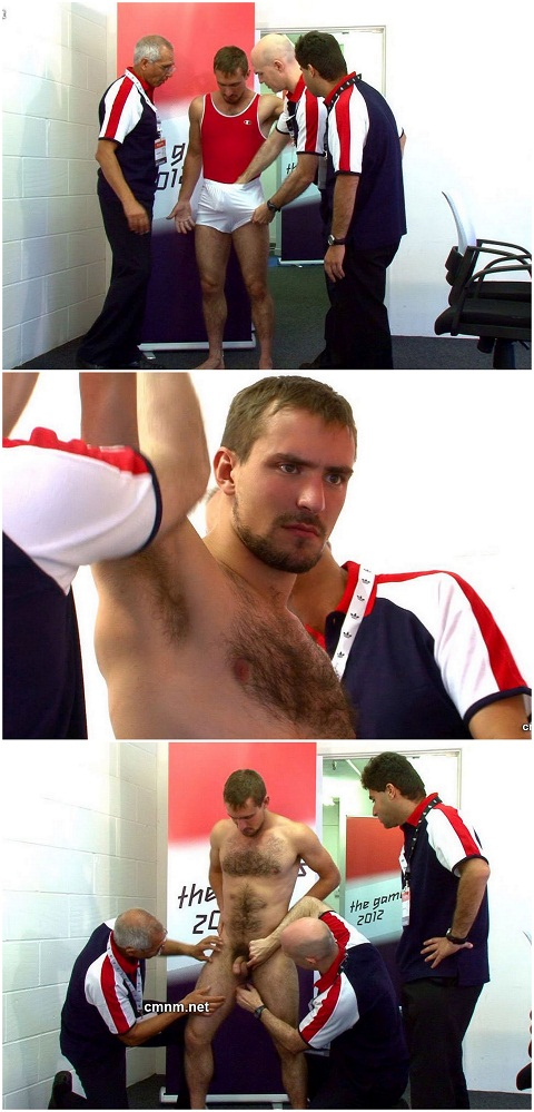 CMNM: Gymnast Guy Submits Himself to His Curious Trainers