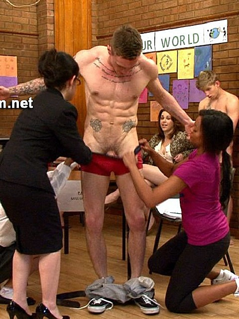 CFNM: Naughty Barry Gets Brutally Disciplined by His Teachers