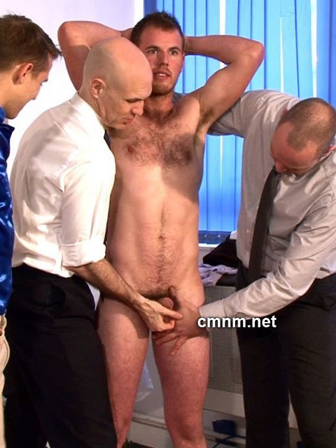 CMNM: Hairy Fred Gets Abused by a Group of Greedy Pervy Men