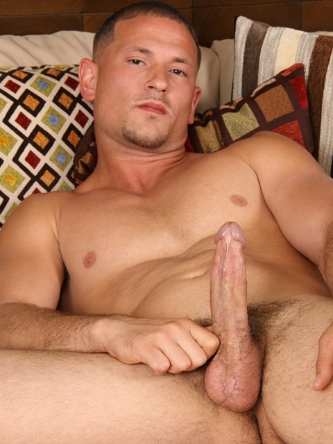 Chaosmen: Straight Lex Bursts a Nice Hot Load from His Big Cock