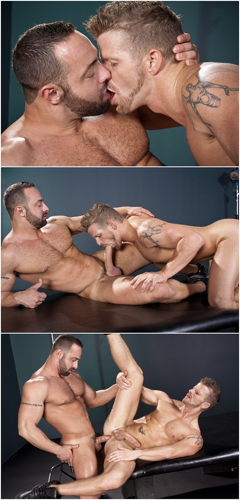 Raging Stallion: Fabio & Jeremy in a Make-Out Session & Doggy Position