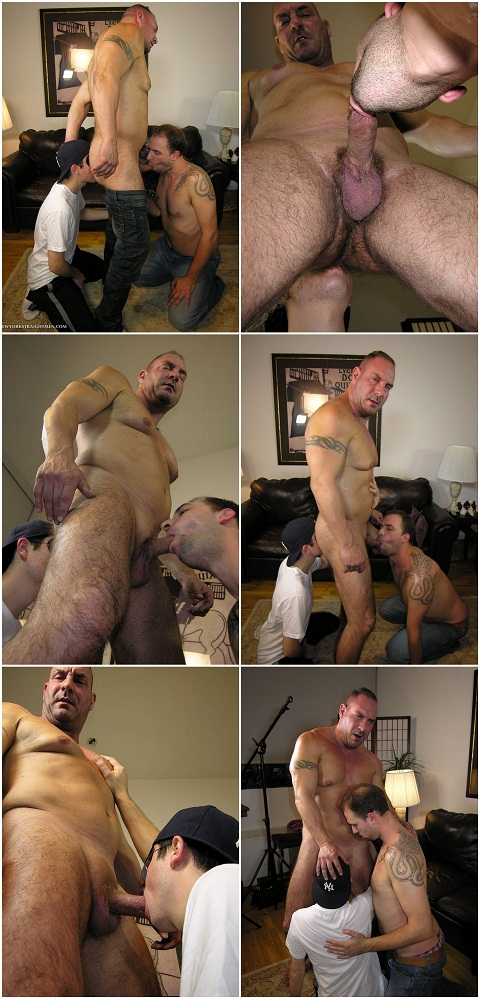New York Straight Men: Straight Rocco Teaches Two Newbies How to Give Pleasures