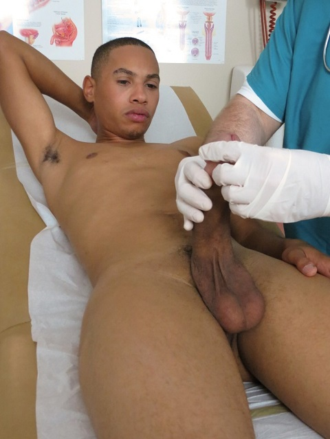 College Boy Physicals: Tony's Super Big Cock Spews a Nice Thick Load